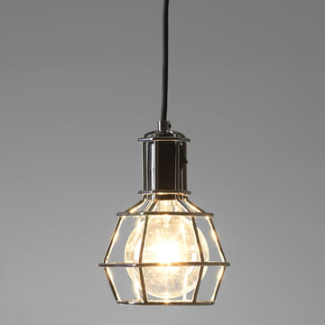 Design House Stockholm – Work Lamp, sølv – med lys i