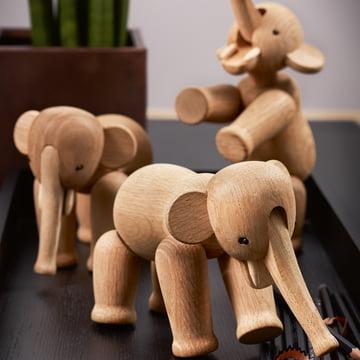 En flok træelefanter