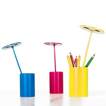 Formagenda – E.T. bordlampe – blå, gul, magenta – blyanter