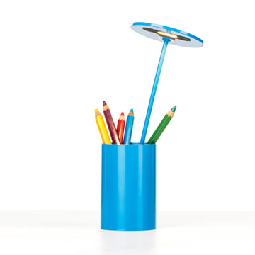 Formagenda – E.T. bordlampe – blå med blyanter