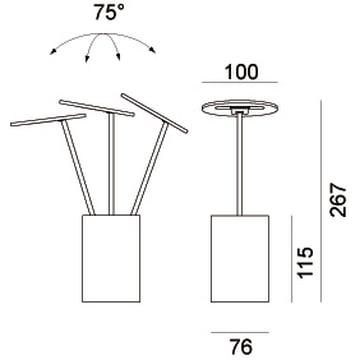 Formagenda – E.T. bordlampe, mål