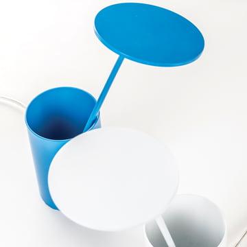 Formagenda – E.T. bordlampe – hvid, blå – top