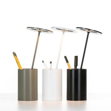 Formagenda – E.T. bordlampe – hvid, grå, sort – blyanter