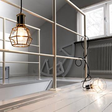 Design House Stockholm – Work Lamp, guld, sølv