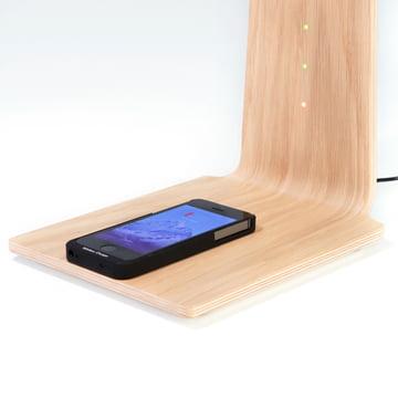 LED 8 bordlampe fra Tunto med trådløs opladningsfunktion