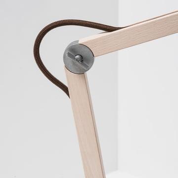 Wästberg – Studioilse bordlampe w084, brun ledning, samling