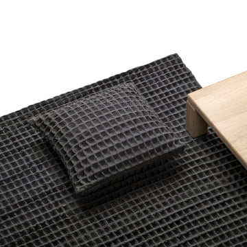 Objekten – Waffle pude, tæppe, mørkegrå