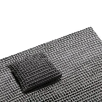 Objekten – Waffle pude, mørkegrå, tæppe, lysegrå