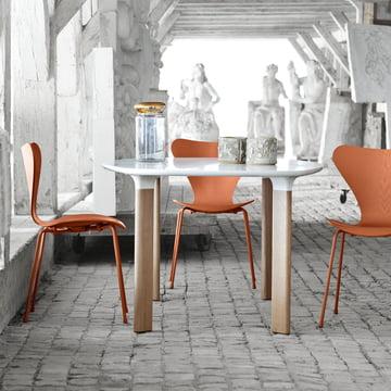 Fritz Hansen – Serie 7 stol, monokrom Chevalier orange