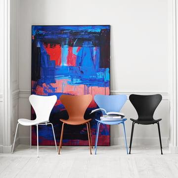 Fritz Hansen – Serie 7 stol, monokrom, gruppebillede