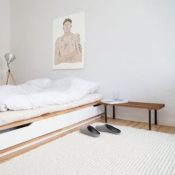 Linéa rektangulært tæppe fra myfelt