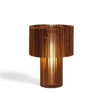 Gulv- og bordlampe i træ fra Skitsch i lille størrelse