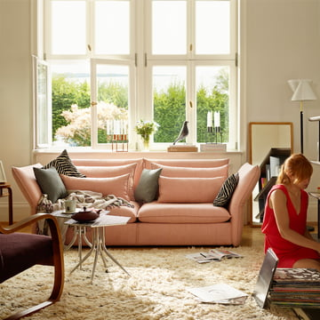 Vitra sofa i sart pink