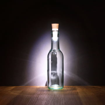 Flaskelys med LED-pære fra Suck UK