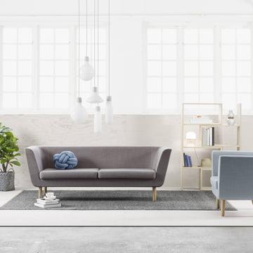 Nest sofa med Extend reolsystem