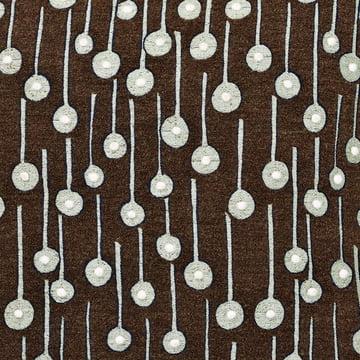 Kvadrat Pop Rain pude, brun, i detaljeret visning