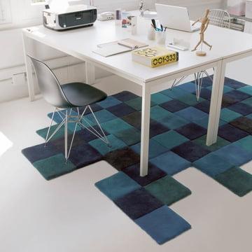 Do-Lo-Rez tæppe fra nanimarquina i blå