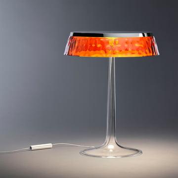 Bon Jour bordlampen fra Flos i krom, krone ravfarvet
