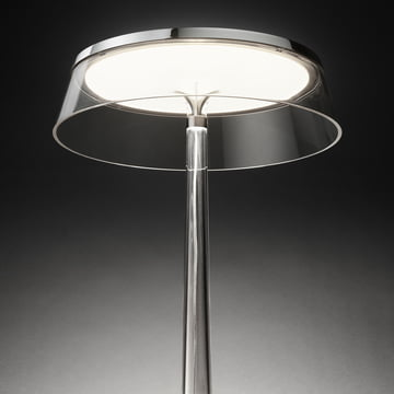 Bon Jour bordlampen fra Flos i krom/krone gennemsigtig