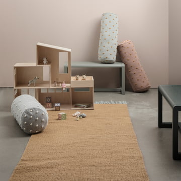 ferm LIVING – Nomad tæppe, karryfarvet