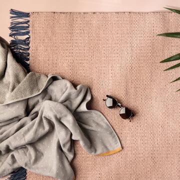 ferm LIVING – Nomad tæppe, rosa