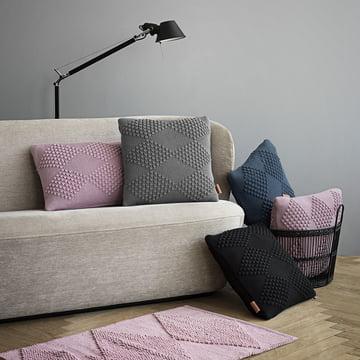 Diamond pude og bademåtte fra Juna med sofa