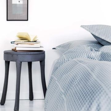 Tripp sengetøj fra Georg Jensen Damask i ocean