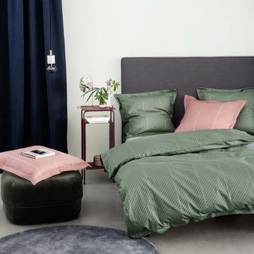 Tripp sengetøj fra Georg Jensen Damask i pine green