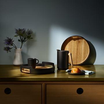 Rustik designet serie af potter og pander