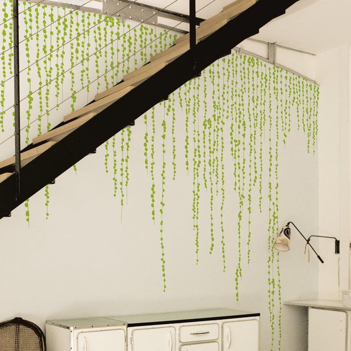 Domestic – Jungle Peas wallstickers, grøn