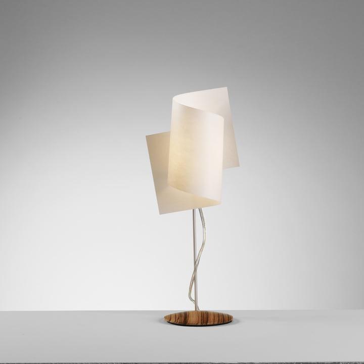 Domus – Loop bordlampe, zebrano