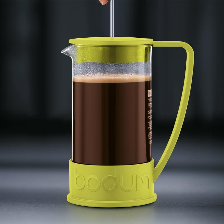 Bodum – Brazil kaffebrygger, 1,0 l, limegrøn – brygning 3