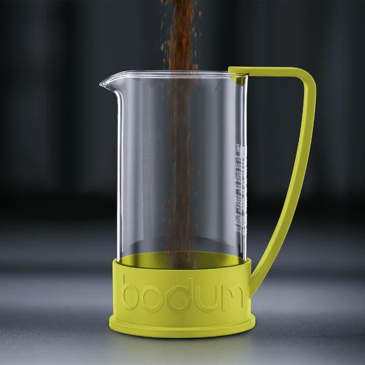 Bodum – Brazil kaffebrygger, 1,0 l, limegrøn – brygning 1