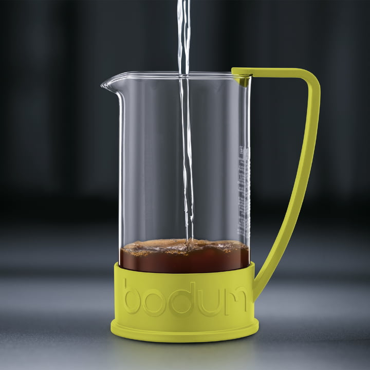 Bodum – Brazil kaffebrygger, 1,0 l, limegrøn – brygning 2