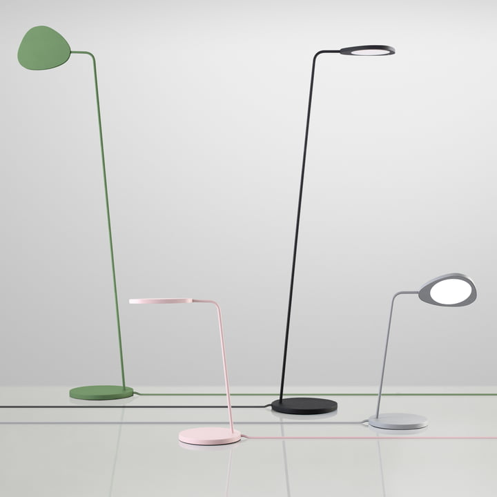 Muuto – Leaf bord- og gulvlampe – gruppe