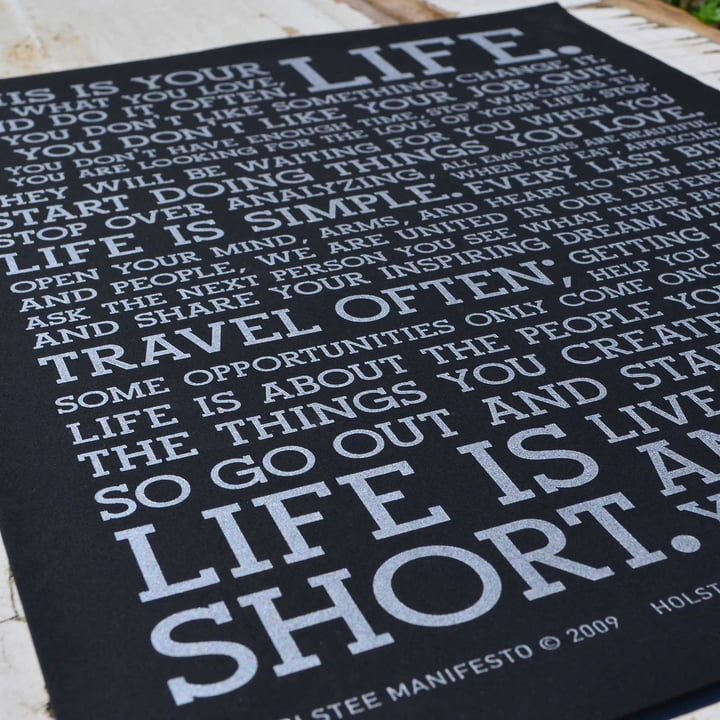 Holstee – plakat, sort, Manifesto