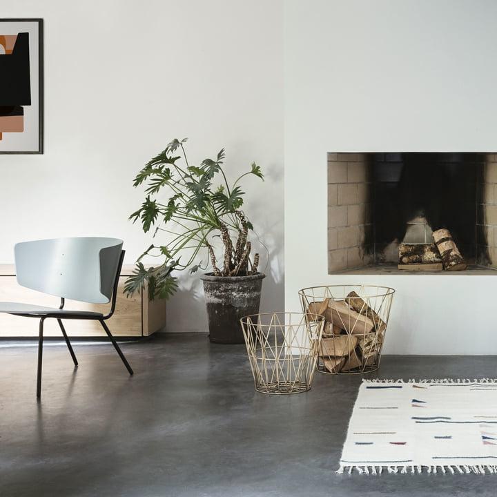 Wire Basket og Herman loungestol