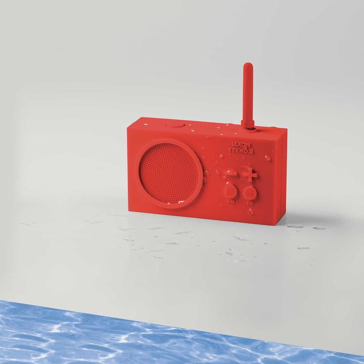 Tykho 2 Radio fra Lexon i rød