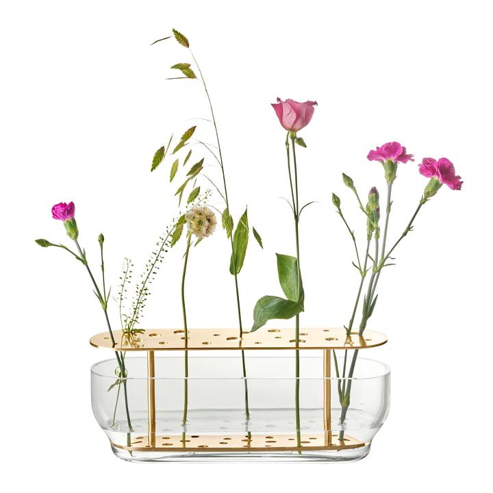 Die Fritz Hansen - Ikebana Vase lang, messing / glas med blomster