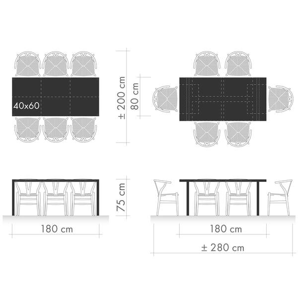 Spiseborde Grafisk 1 - Siddende arrangement