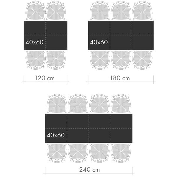 Spiseborde Grafisk 2 - personer pr bord