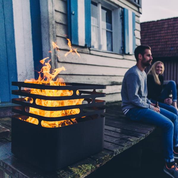 Brandskål lavet af rustfrit stål