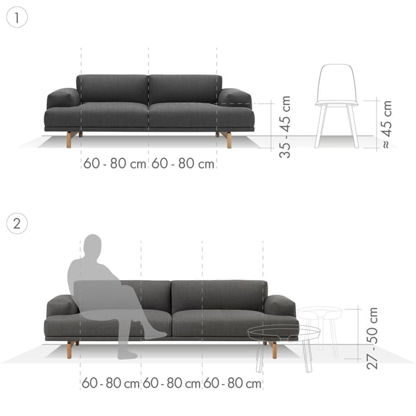 Sofa Graphic 1 - 2-personers og 3-personers